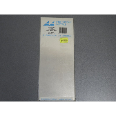 ALBION ALLOYS PRECISION METALS, Aluminium Sheet 2 Pieces 0.8mm x 100mm x 250mm, SM3 M