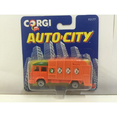 CORGI, AUTO CITY GARBAGE TRUCK, HO Scale, DIECAST CAR, 93177