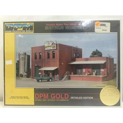 DESIGN PRESERVATION MODELS, DRYWELL INKS, HO SCALE: 1:87, PLASTIC BUILDING, 401