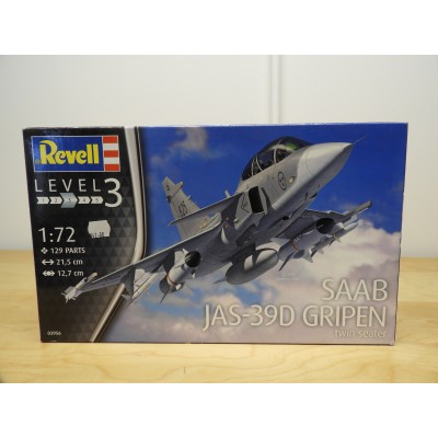 REVELL, SAAB JAS-39D GRIPEN twin seater, 1/72 SCALE, 03956