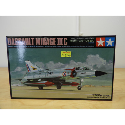 TAMIYA, DASSAULT MIRAGE III C, 1/100 SCALE, ITEM NO: 61603