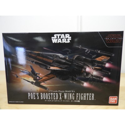 BANDAI, STARWARS, POE'S BOOSTED X-WING FIGHTER, 1/72 SCALE, ITEM NO: 0219752