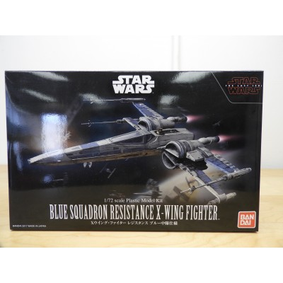 BANDAI, STARWARS, BLUE SQUADRON RESISTANCE X-WING FIGHTER, 1/72 SCALE, ITEM NO: 0223296