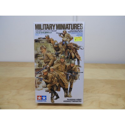 TAMIYA, MILITARY MINIATURES, RUSSIAN ARMY ASSULT INFANTRY, 1/35 SCALE, ITEM NO: 35207