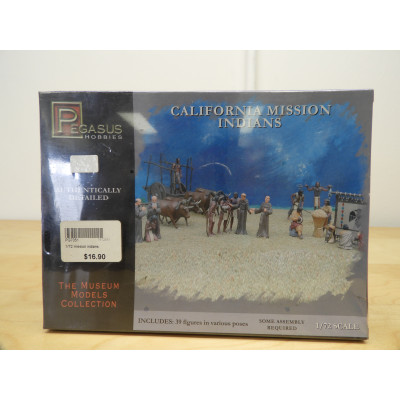 PEGASUS, CALIFORNIA MISSION INDIANS, 1/72 SCALE, ITEM NO: 7051