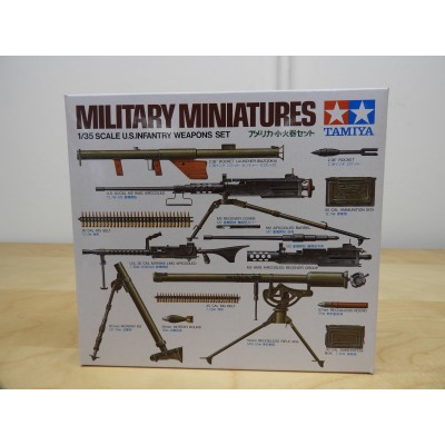 TAMIYA, MILITARY MINIATURES, US INFANTRY WEAPON SET, 1/35 SCALE, ITEM NO: 35121