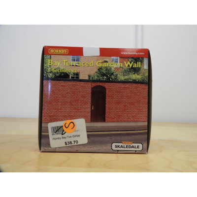HORNBY, MODEL BUILDING, SKALEDALE, BAY TERRACE GARDEN WALL, R8690