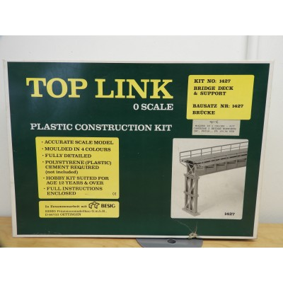 TOP LINK, MODEL STRUCTURE, BRIDGE DECK & SUPPORT, O SCALE, ITEM NO: 1427