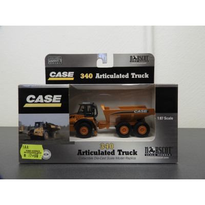 NORSCOT DIE CAST METAL, CASE 340 ARTICULATED TRUCK, 1/87 SCALE, ITEM NO: 21001
