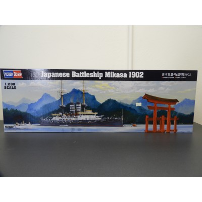 HOBBY BOSS, JAPANESE BATTLESHIP MIKASA 1902, 1/200 SCALE, ITEM NO: 82002