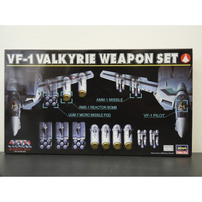 HASEGAWA, MACROSS, VF-1 VALKYRIE WEAPON SET, 1/72 SCALE, MODEL KIT, Item 65706