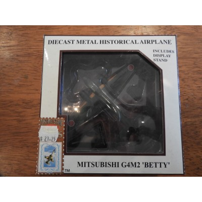 """MODEL POWER, DIECAST PLANE, MITSUBISHI G4M2 """"BETTY"""", 1/100,  INCLUDES DISPLAY STAND, 5431"""