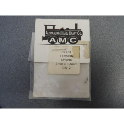 AMC, C2201, TENSION SPRING, 3mm x 1.5mm, Qty 2