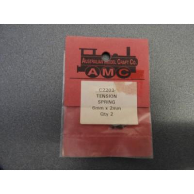 AMC, C2203 TENSION SPRING, 6MM X 2MM, QTY 2
