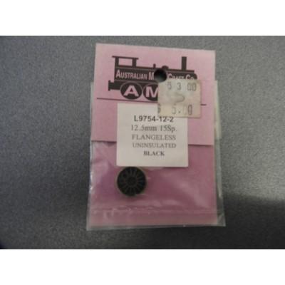 AMC, L9754-12-2, 12.5MM, 155P, FLANGELESS, UNINSULATED, BLACK