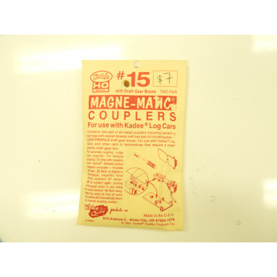 Kadee, , HO Scale, with draft Gear, Box, 2 pair, Magne - Matic Coupler, No 15