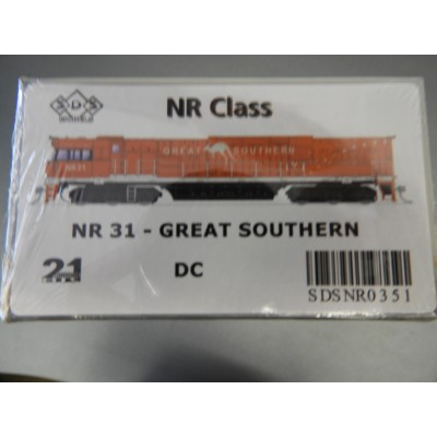 SDS Models, NR CLASS, HO SCALE, NR 31 - GREAT SOUTHERN - SDSNR0351, DC