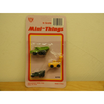 IHC, Mini Things CONSTRUCTION TRUCKS, N Scale, PLASTIC VEHICLES, 52-7018