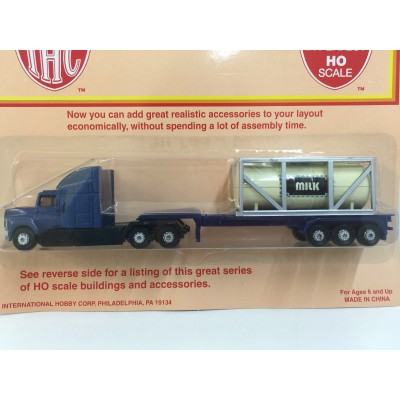 IHC, Flatbed Truck with Tank Container, HO SCALE, PLASTIC TRUCK, No. 920
