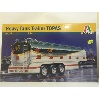ITALERI, Heavy Tank Trailer TOPAS, SCALE 1:24, PLASTIC TRAILER, No 3731