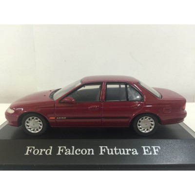 PARADISE GARAGE, CARDINAL RED METALLIC Ford Falcon Futura EF, SCALE 1:43, DIECAST Car, 92001