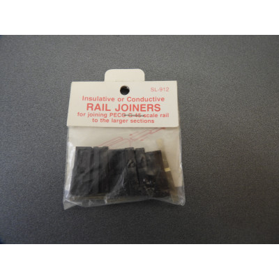 PECO, STREAMLINE, Insulative or Conductive RAIL JOINERS for joining PECO G-45 scale rail to the larger sections, SL-912