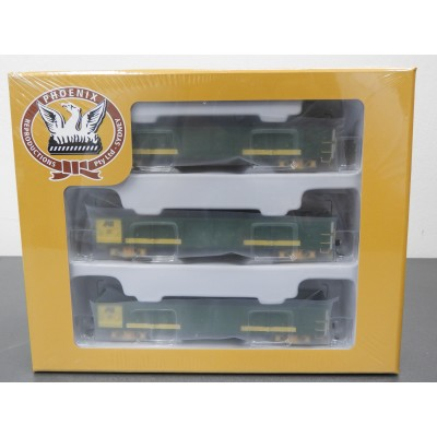 PHOENIX REPRODUCTIONS, Australian National AOGA - Open Wagon - GREEN / YELLOW, HO SCALE, ROLLING STOCK, FTO 315