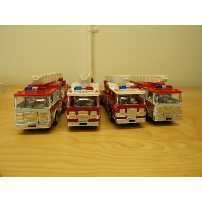 RESCUE ENGINE, Die-Cast Metal, 4 Pack