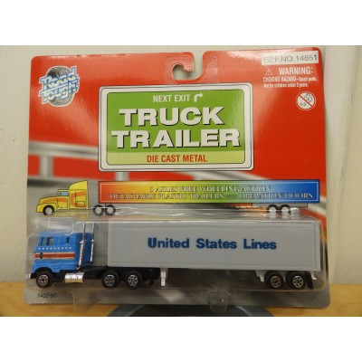 Road Tough, Truck Trailer, HO SCALE, DIE CAST METAL, No. 1402-6C