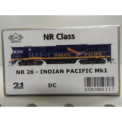 SDS Models, NR CLASS LOCOMOTIVE, HO SCALE, NR 26 - INDIAN PACIFIC Mk1, DC