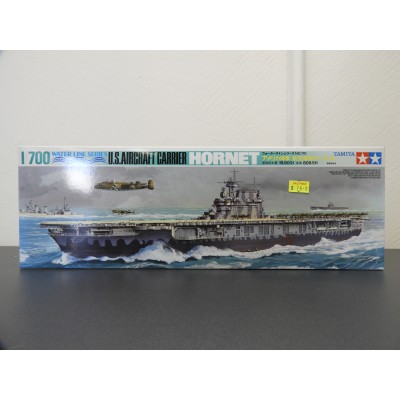 TAMIYA, WATER LINE SERIES U.S. AIRCRAFT CARRIER HORNET, Plastic Boat Kit, Scale 1/700, ITEM 77510