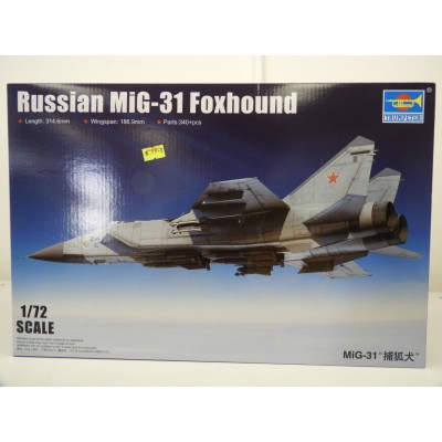 TRUMPETER, Russian MiG-31 Foxhound, 1:72 Scale, Plastic Model Kit, 01679