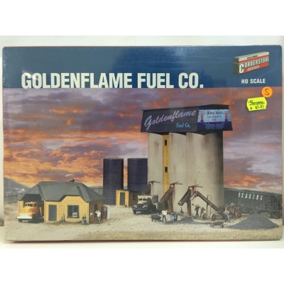 WALTHERS CORNERSTONE SERIES, GOLDENFLAME FUEL CO., HO SCALE, PLASTIC STRUCTURE KIT, 933-3087