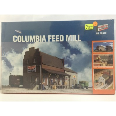 WALTHERS CORNERSTONE SERIES, COLUMBIA FEED MILL, HO SCALE, STRUCTURE KIT, 933-3090