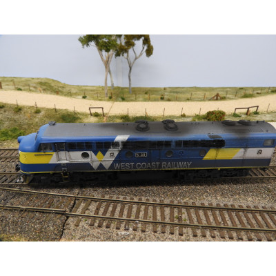 TrainOrama, West Coast Railway, S Class Locomotive, HO Scale, WCR S311 - WEATHERED